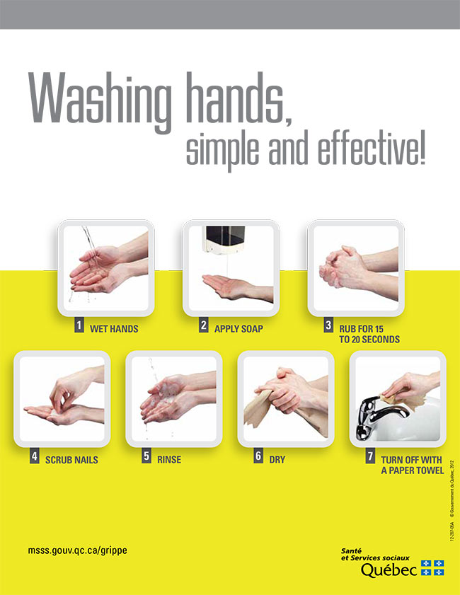 Washing hands COVID-19